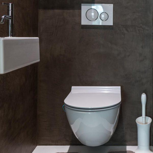 mortexafwerking badkamer - Floorcouture