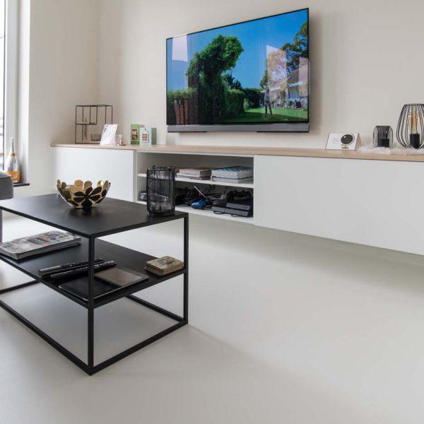 PU gietvloer - Mortex wandbekleding - nieuwbouw appartement