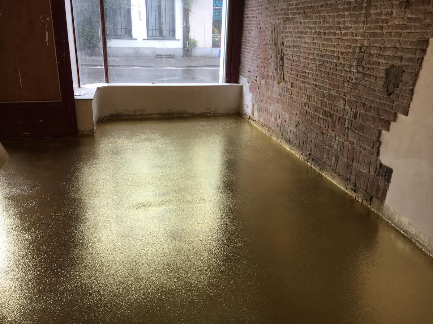 Gietvloer Golden Flakes Antwerpen