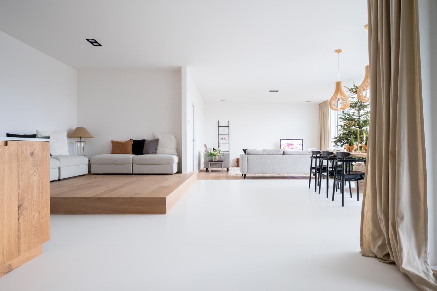 PU gietvloer RAL 9016 Peachpeel Neerpelt appartement
