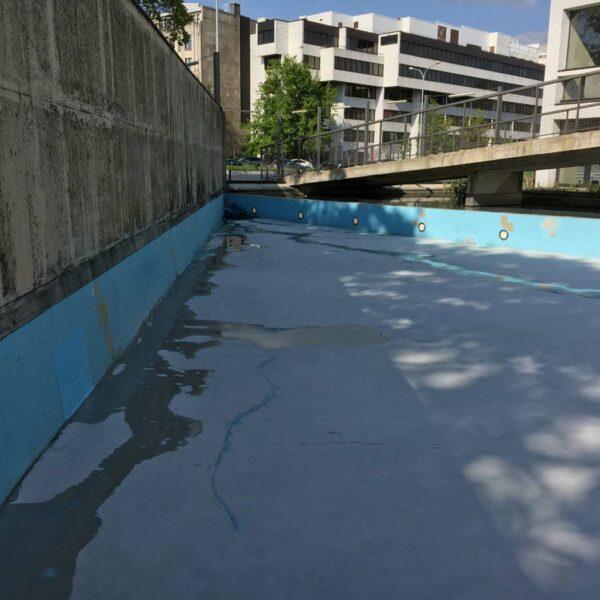 Renovatie kunstwerk epoxytcoating De Singel Antwerpen